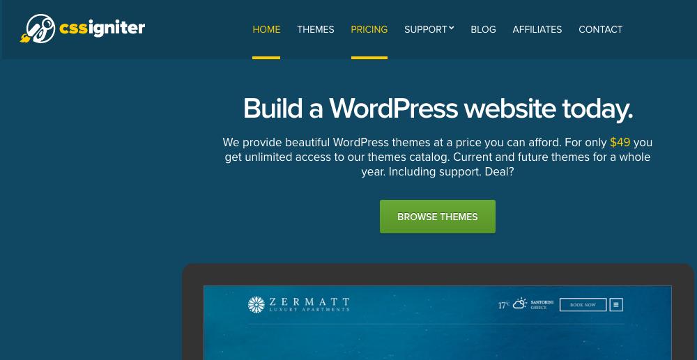Marketplaces para Comprar Temas e Plugins WordPress - CSS Igniter
