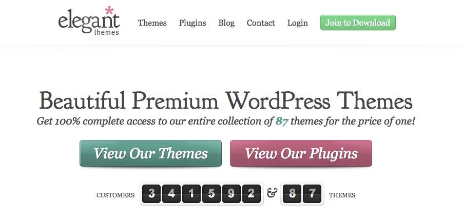 Marketplaces para Comprar Temas e Plugins WordPress - Elegant Themes