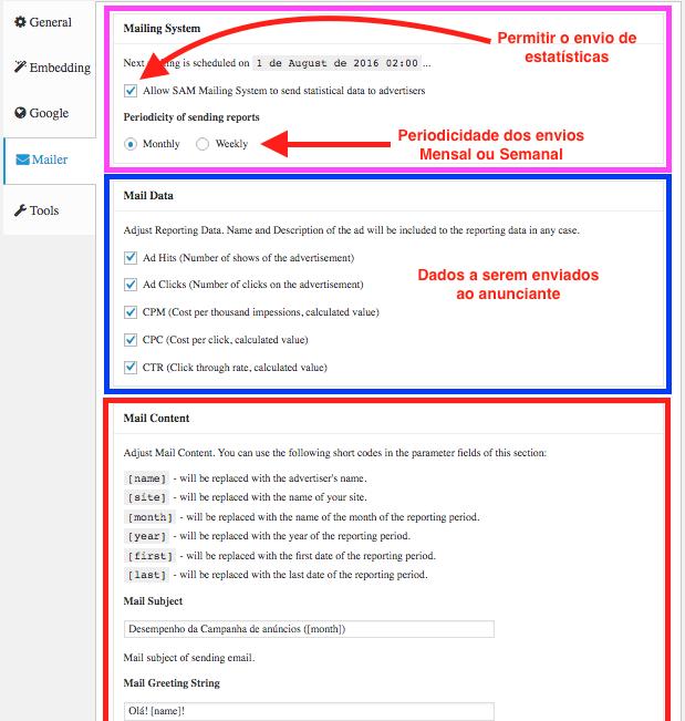 Gerenciando Anuncios de Forma Profissional - Configuracoes - Aba Mailer 1