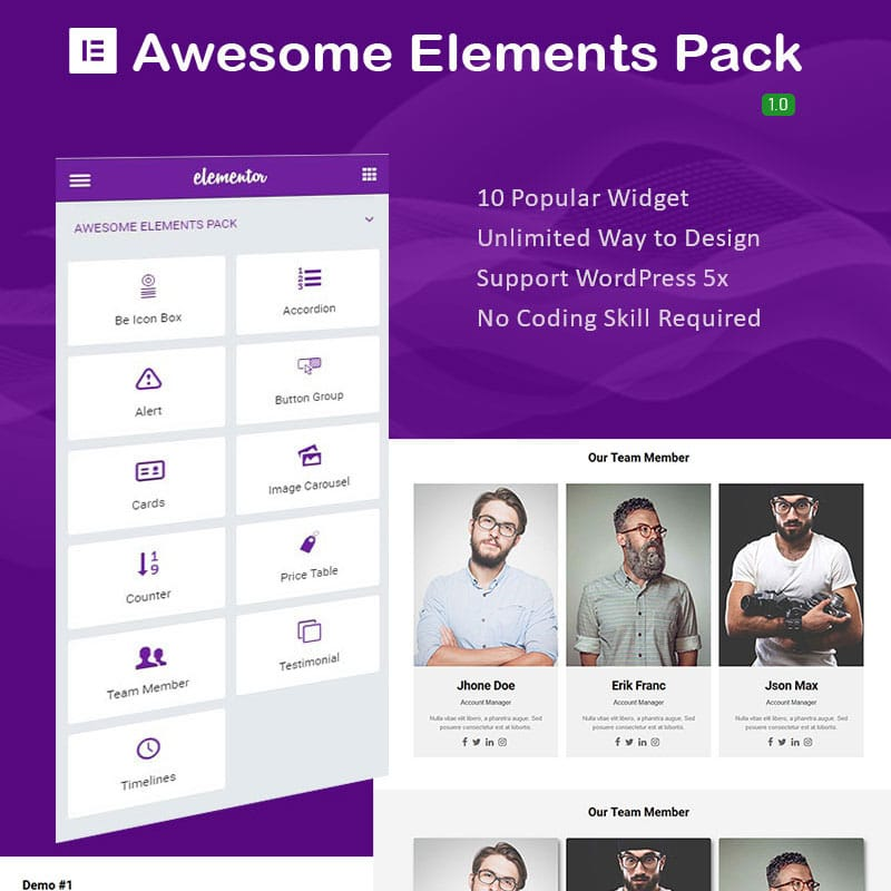 Awesome Elements Pack Plugin WordPress