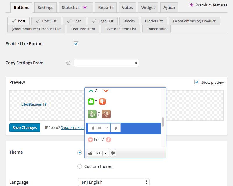 Botão-de-Curtir-em-Posts-Configurando-Botões-1-em-Like-Button-Voting-Rating