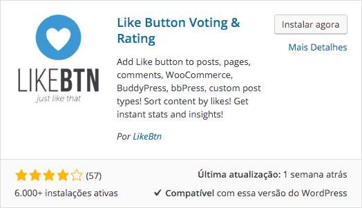 Botão-de-Curtir-em-Posts-Download-e-Instalação-do-Like-Button-Voting-Rating