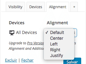 Revisão-Extended-Widget-Options-Versão-Free-Widget-Options-Alinhamento
