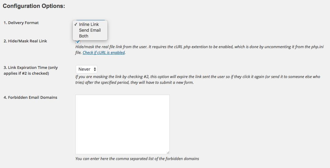 Como Capturar Email Atraves de Download no WordPress - Configuracoes Email Before Download 1