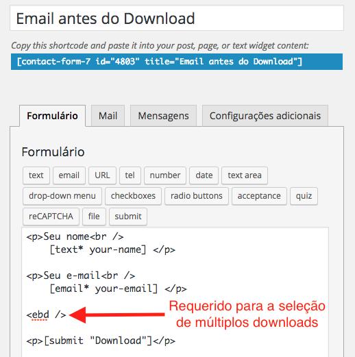 Como Capturar Email Atraves de Download no WordPress - Formulario para Captura com Multiplos Downloads