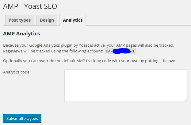 Glue for Yoast SEO & AMP - Tab Analytics
