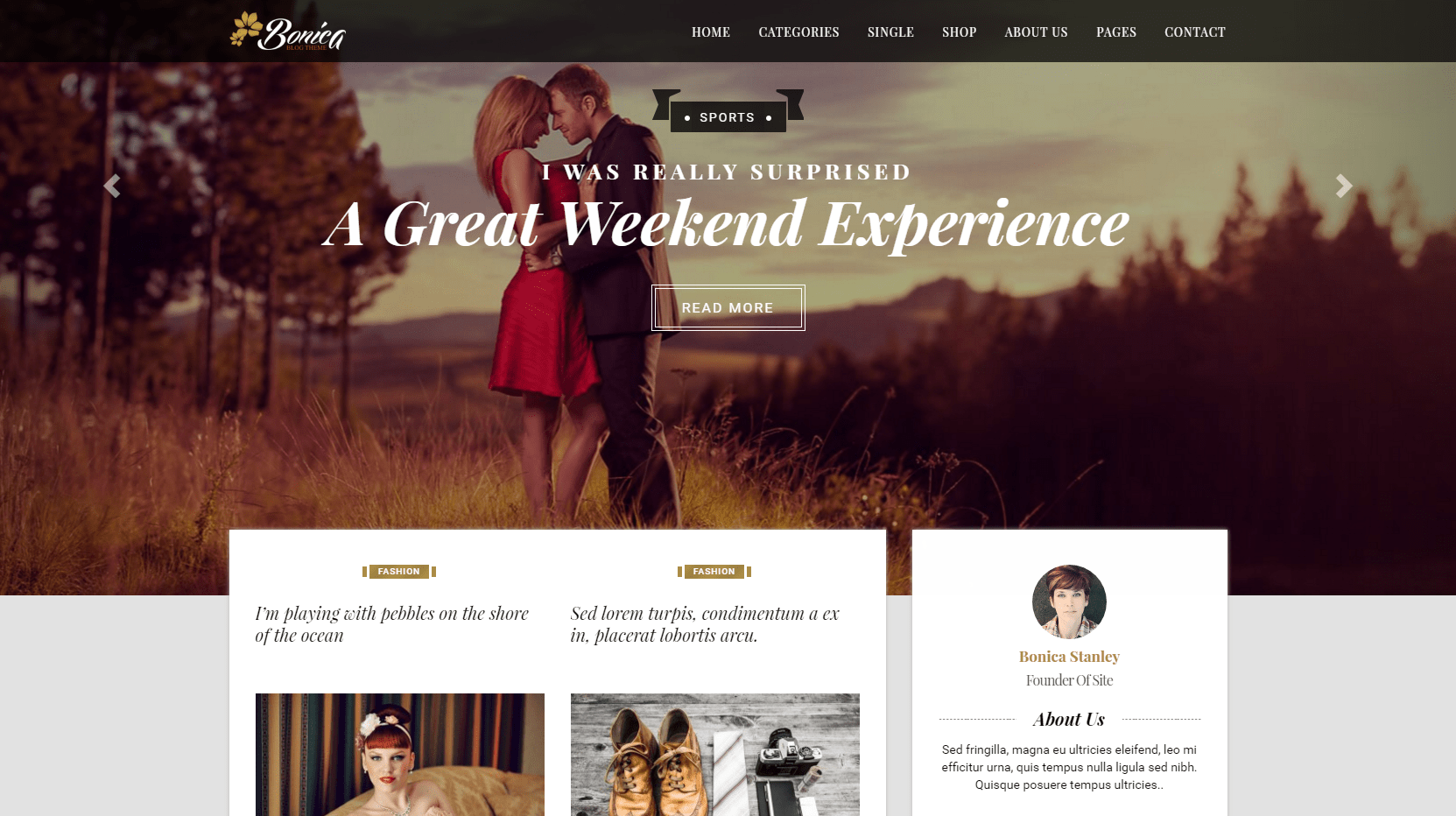 Bonica – Personal Blog WordPress Theme