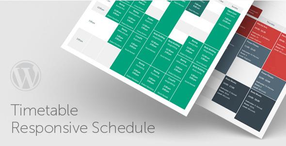 Calendario de Eventos e Horarios no WordPress Plugin Timetable Responsive Schedule