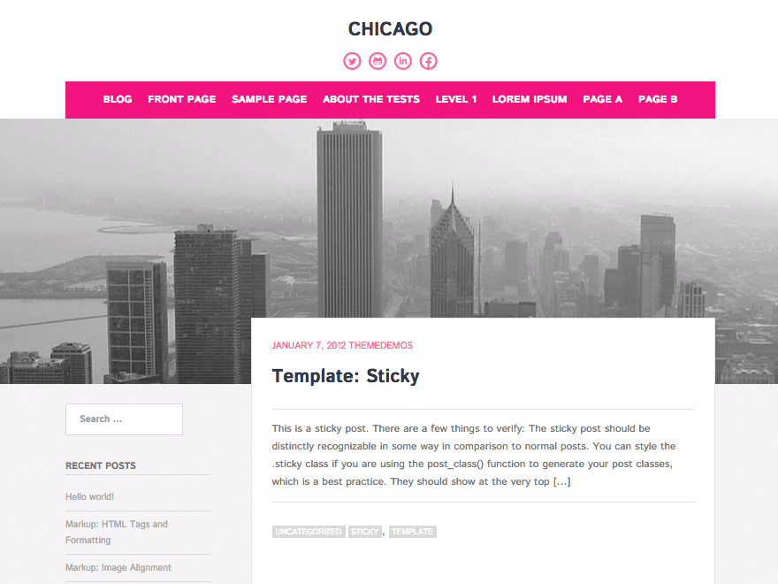 Chicago Tema WordPress