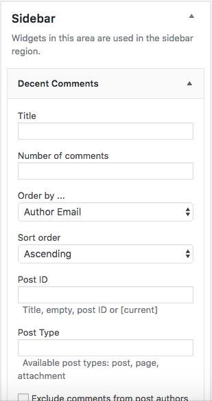 como-exibir-comentarios-recentes-na-sidebar-do-wordpress-arraste-o-widget-decent-comments-para-a-sidebar