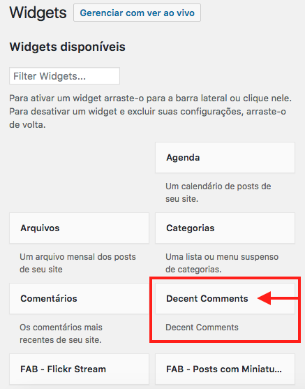 como-exibir-comentarios-recentes-na-sidebar-do-wordpress-encontre-o-widget-decent-comments