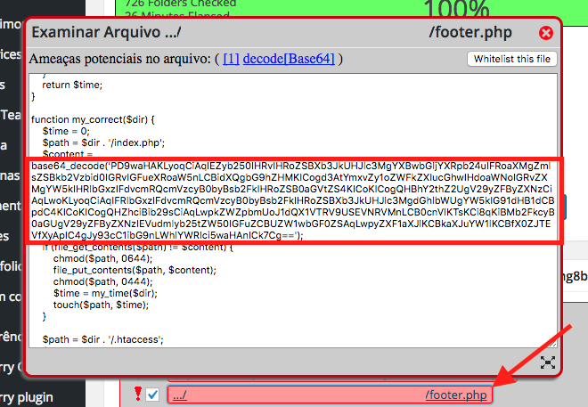 Como Resolver Phishing no WordPress - Verificando arquivo com codigo malicioso