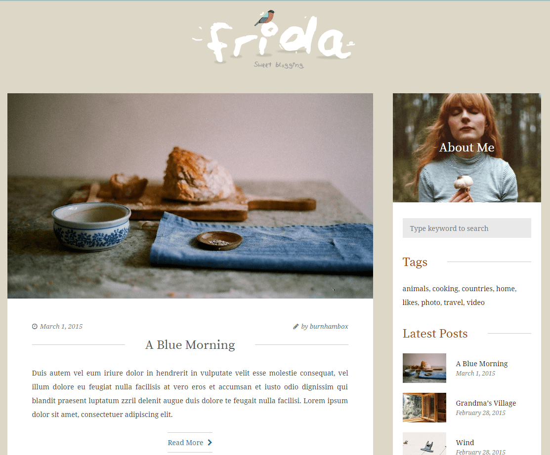 Frida A Sweet Classic Blog Theme