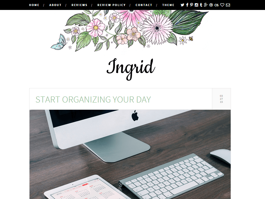 Ingrid Tema WordPress