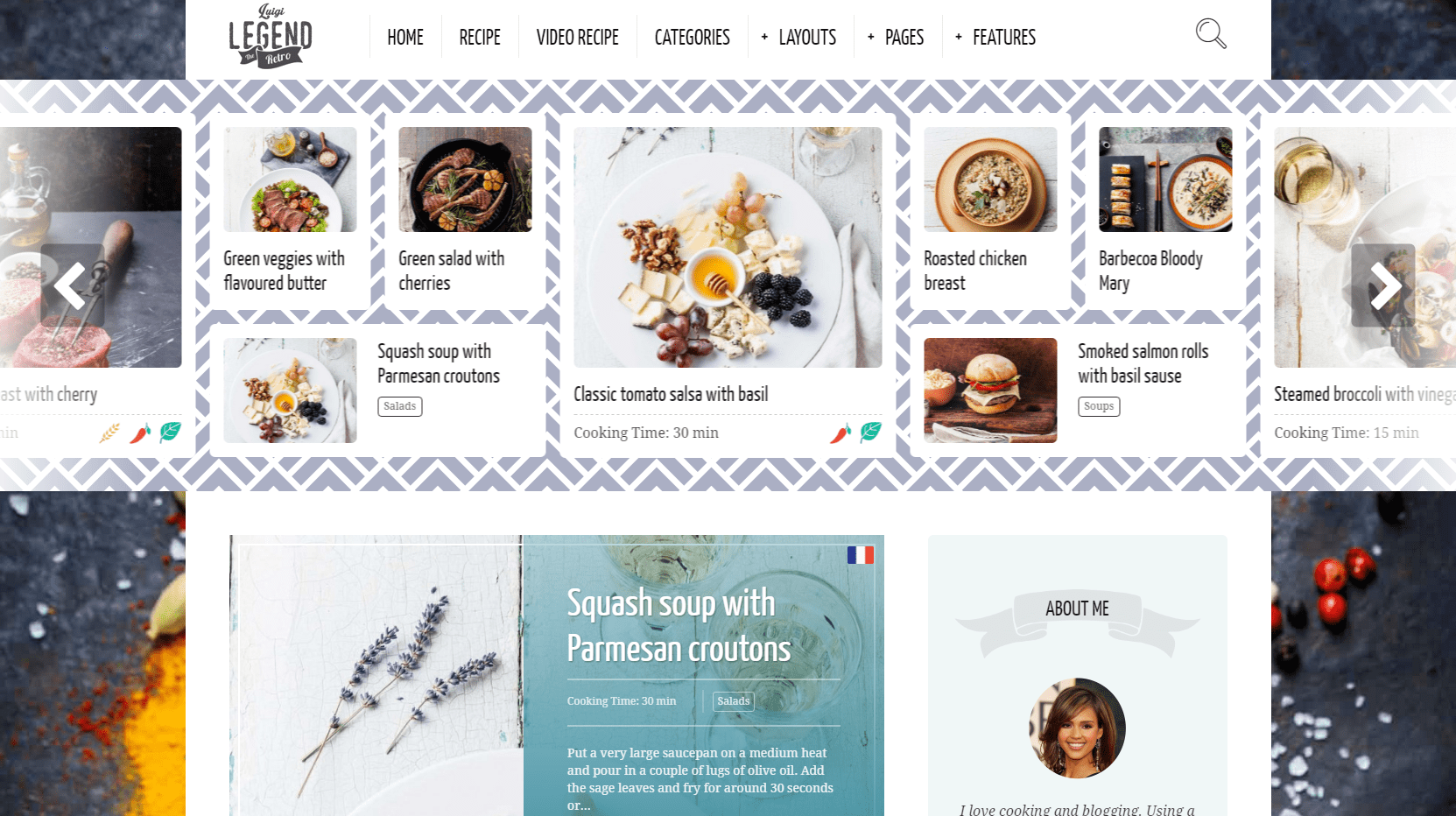 Neptune – WordPress theme for food recipes and cooking bloggers – Just another WordPress site