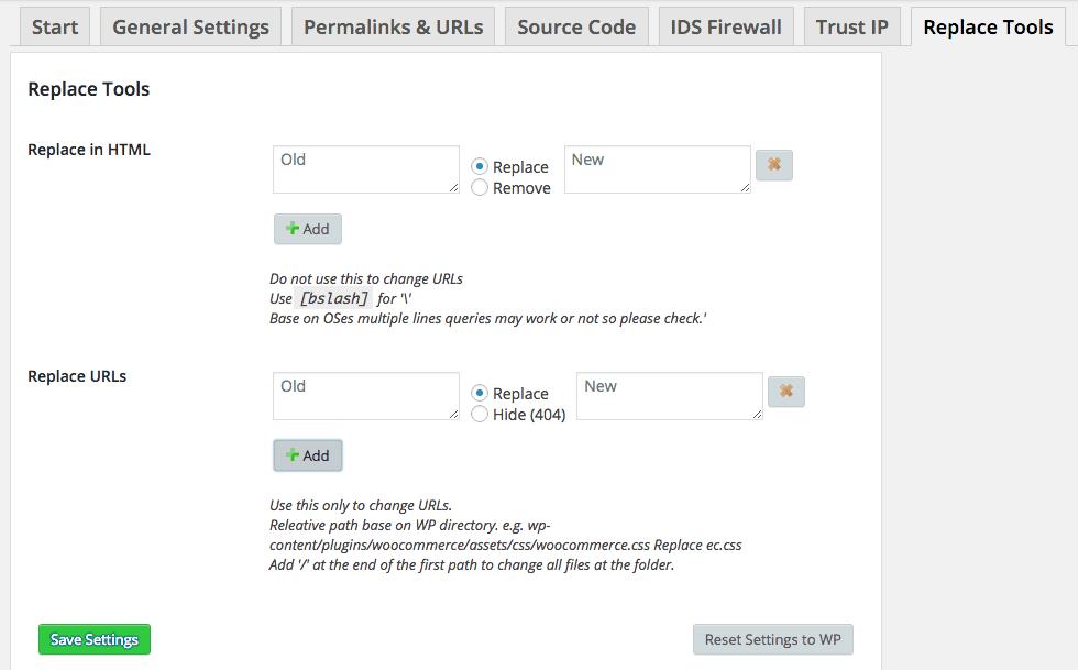 Segurança-com-Hide-My-WP-Configurações-Replace-Tools
