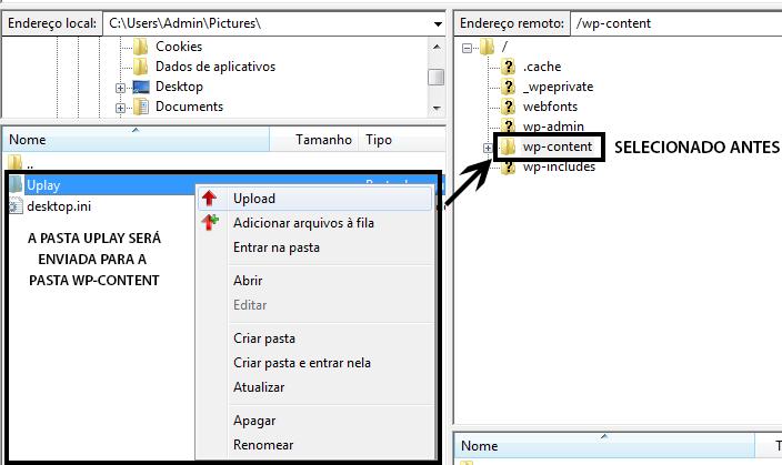 Adicionar Arquivo FTP FileZilla