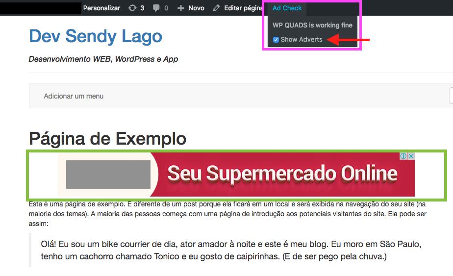 Como Adicionar e Configurar Google Adsense no WordPress - Verificando Anuncios
