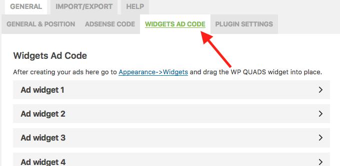 Como Adicionar e Configurar Google Adsense no WordPress - Widgets Ad Code