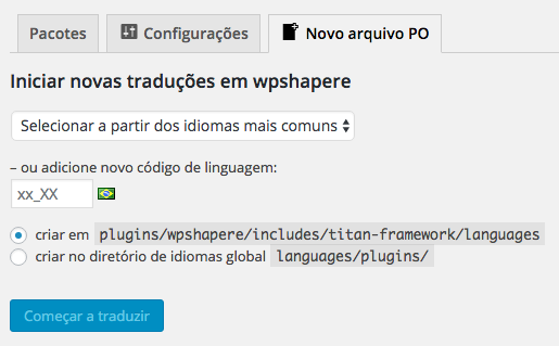 Traduzir Temas e Plugins WordPress - Novo Arquivo PO Loco Translate
