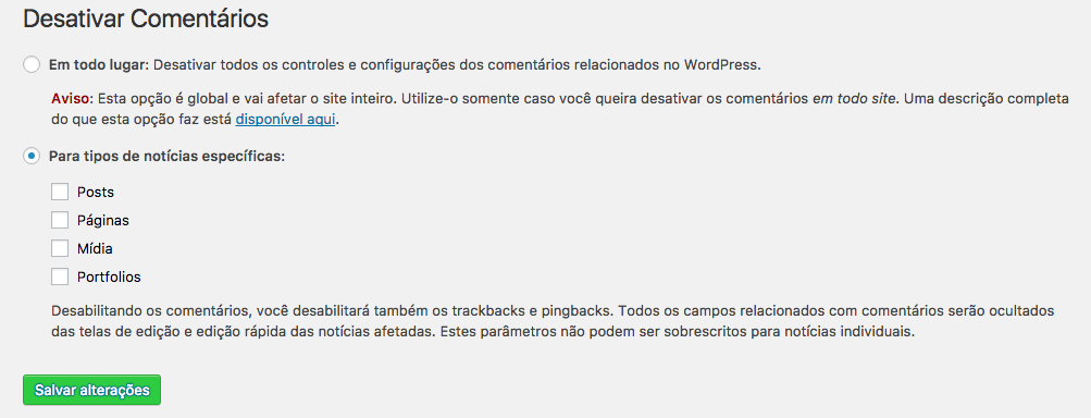 como-desabilitar-comentarios-no-wordpress-configuracao-do-plugin