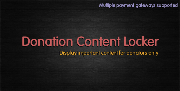 10 Plugins Para Sistema de Doacoes no WordPress - Donation Content Locker