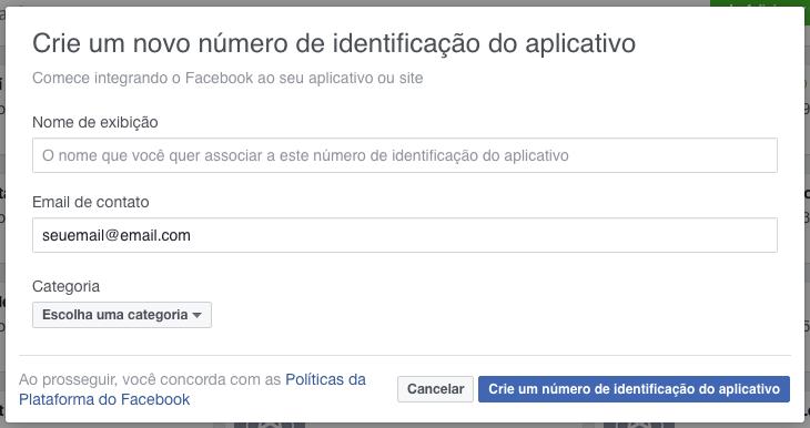 Como Exibir Eventos do Facebook no WordPress Configuracoes do Facebook App