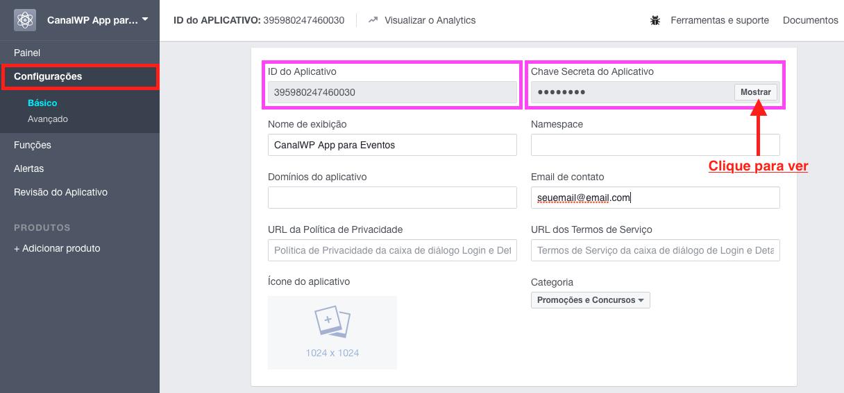 Como Exibir Eventos do Facebook no WordPress - Painel de Configuracoes e Informacoes Importantes