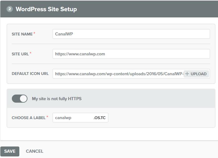 Notificacoes Push - Configurando Site WordPress Site sem SSL