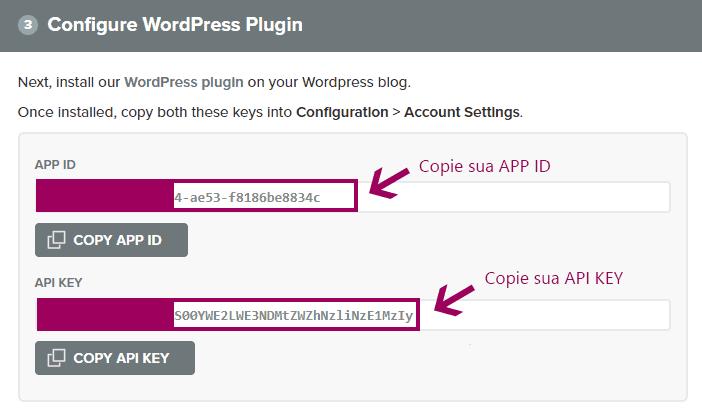 Notificacoes Push - Copiando APP ID e API KEY