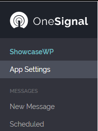 Notificacoes Push WordPress -APP Settings