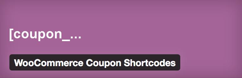 10 Otimos Plugins para Cupom WooCommerce - WooCommerce Coupon Shortcodes