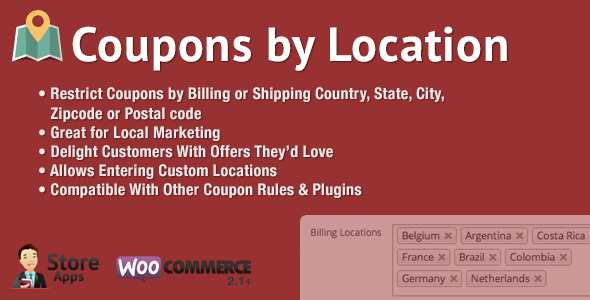 10 Otimos Plugins para Cupom WooCommerce - WooCommerce Coupons by Location