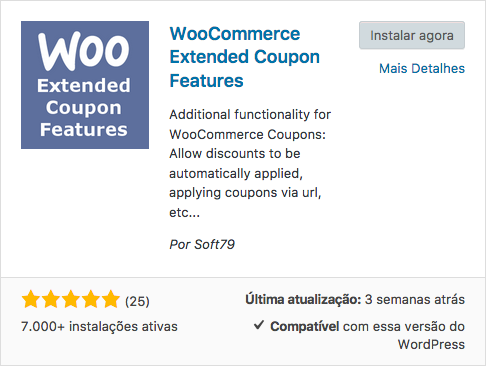 10 Otimos Plugins para Cupom WooCommerce - WooCommerce Extended Coupon Features