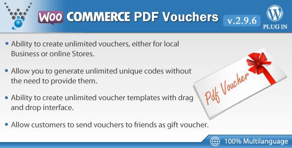 10 Otimos Plugins para Cupom WooCommerce - WooCommerce PDF Vouchers