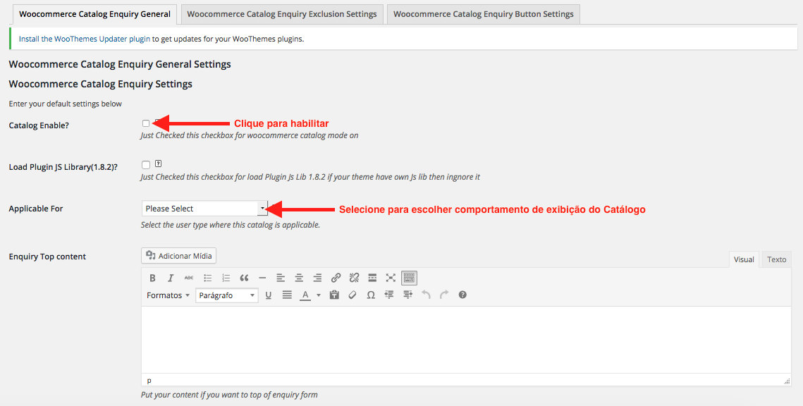 Como Criar Loja Catalogo WooCommerce - Habilitando Catalogo Online