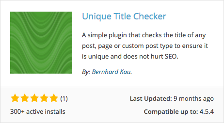 Como Impedir Titulos Duplicados no WordPress - Plugin Unique Title Checker