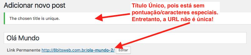 Como Impedir Titulos Duplicados no WordPress - Post com Titulo e URL Duplicada