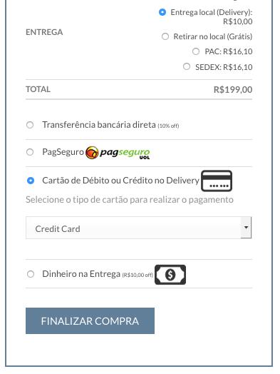 Ofereca Desconto por Tipo de Pagamento no WooCommerce - Exemplo Sem Desconto