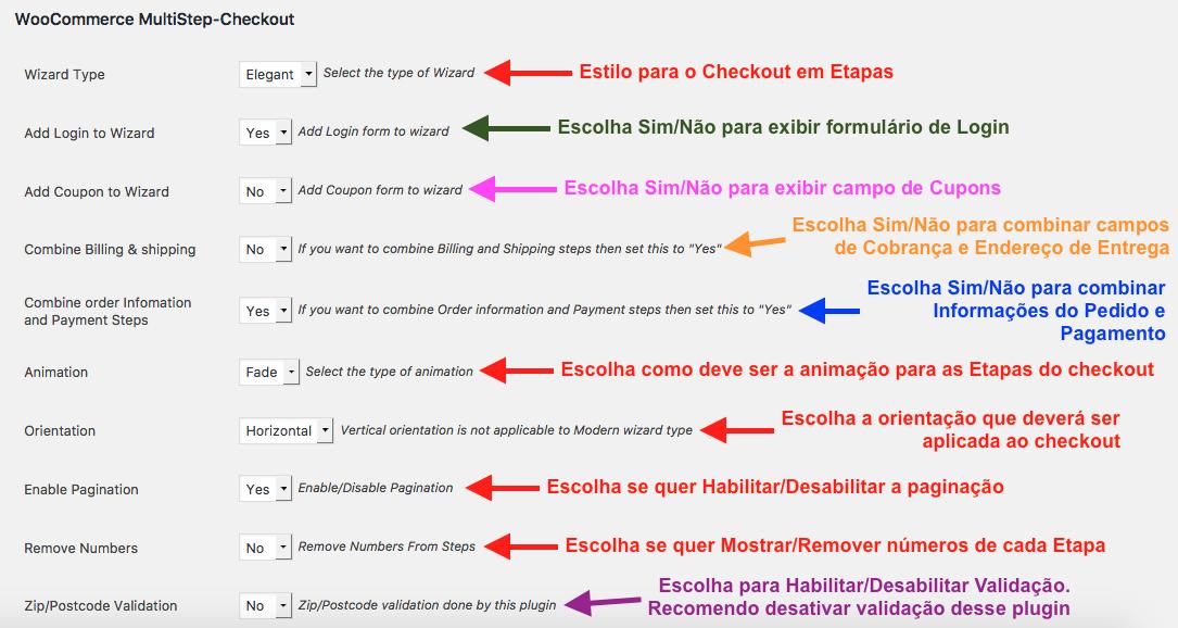 Como Ter Etapas no Checkout WooCommerce - Configuracoes Iniciais do Plugin