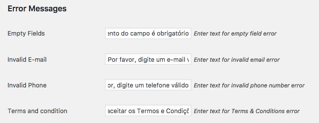 Como Ter Etapas no Checkout WooCommerce - Mensagens de Erro