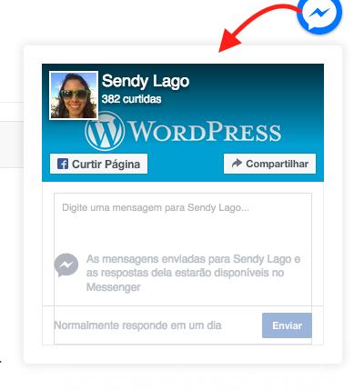 Como Usar Facebook Messenger Pro Para WordPress - Messenger ao clicar no botao flutuante