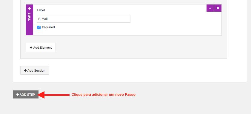 Crie Formulario de Contato Com Passo a Passo no WordPress - Adicionando novo Passo ou Etapa