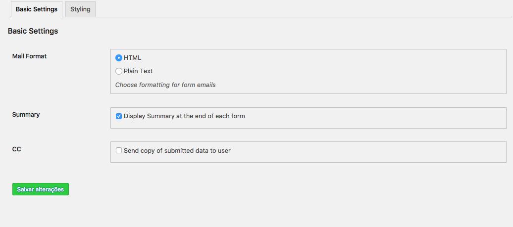 Crie Formulario de Contato Com Passo a Passo no WordPress - Configuracoes Basicas