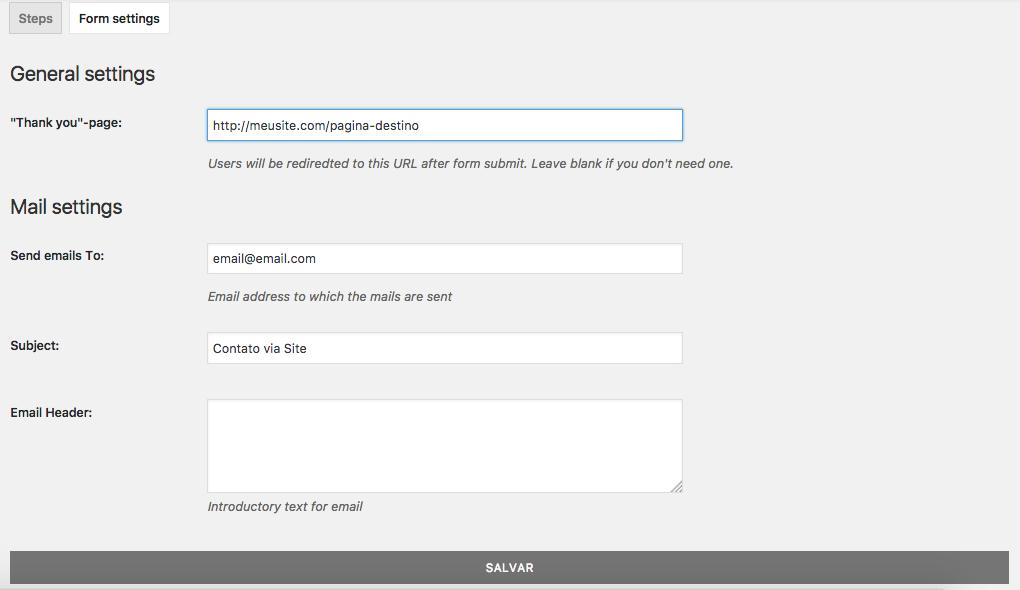 Crie Formulario de Contato Com Passo a Passo no WordPress - Configuracoes Importantes de Recebimento dos Formularios