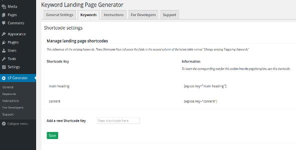 Plugins Para Criar Landing Pages no WordPress - Keyword Landing Page Generator