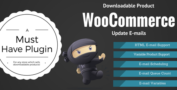 Plugins Para Customizar E-mails WooCommerce - WooCommerce Downloadable Product Update E-mails