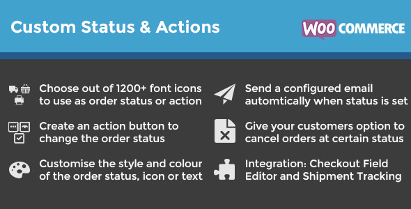 Plugins Para Customizar E-mails WooCommerce - WooCommerce Order Status & Actions Manager