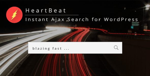 10 Plugins Infaliveis Para Busca WordPress - HeartBeat Instant Ajax Search for WordPress