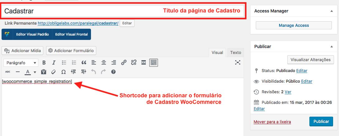 Como Criar Pagina de Cadastro no WooCommerce com Plugin - Shortcode para Adicionar Formulario de Cadastro WooCommerce